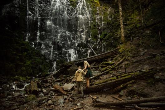 PNW wedding engagement oregon beer wine waterfall adventure-12