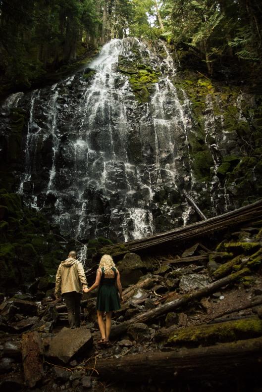 PNW wedding engagement oregon beer wine waterfall adventure-13