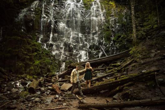 PNW wedding engagement oregon beer wine waterfall adventure-14