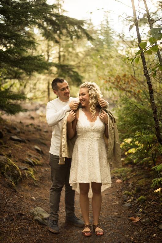 PNW wedding engagement oregon beer wine waterfall adventure-6
