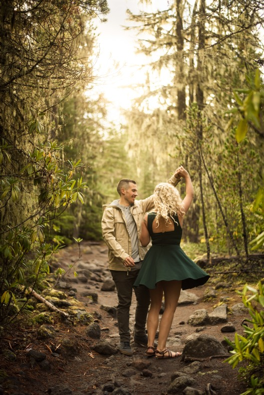 PNW wedding engagement oregon beer wine waterfall adventure-9